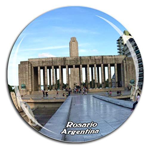 Monumento Histórico Nacional a la Bandera Rosario Argentina Imán de Nevera Cristal de Cristal 3D Ciudad Turística Recuerdo de Viaje Colección Regalo Fuerte Refrigerador Pegatina