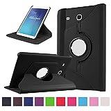 Galaxy Tab E 9.6 Housse - 360°Rotation Housse en cuir pour Samsung Galaxy Tab E 9.6 Pouces SM-T560 / T561 Tablette Coque Housse...