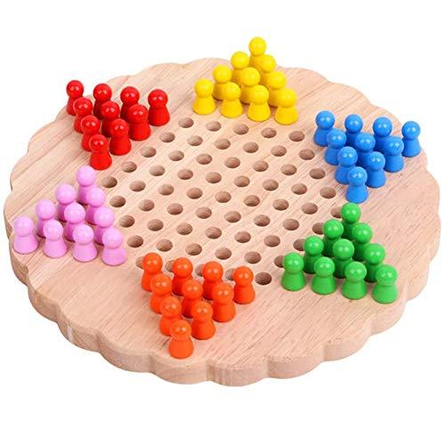 Lefran Chinesische Checker Holz Brettspiel Für Die Familie Sechseckige Tafel Kinder Gehirn Spiel Für Kinder Studenten
