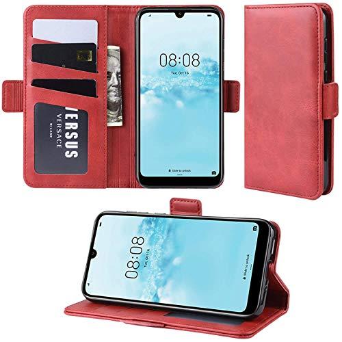 HualuBro Handyhülle für Oppo Find X2 Neo Hülle, Premium PU Leder Brieftasche Schutzhülle Handytasche LederHülle Flip Hülle Cover für Oppo Find X2 Neo Tasche - Rot