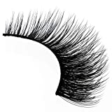 Amorus 3D Hand made Faux Mink Lashes #01 Black Nature fluffy light Reusable (3 pack)