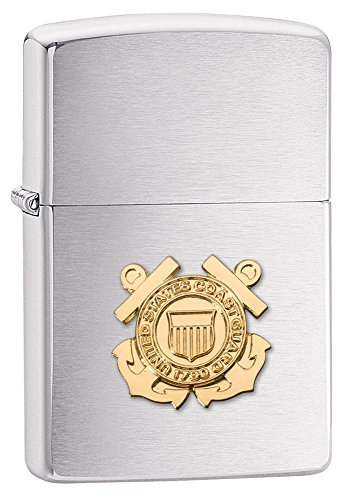 Zippo Coast Guard Brushed Chrome Lighter