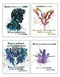 TrendyPrint Harry Potter - Citas de Dumbledore para Pared - Juego de 4 - Ideal para coleccionar o Regalar