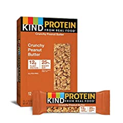 Contains 12 - 1.76oz KIND Protein Bars Smooth peanut butter. Crunchy whole peanuts. Taste and nutrition packed into one perfect bar that delivers a good source of protein - it's a snack-lover's dream come true. Good source of protein - 12g per bar Gl...