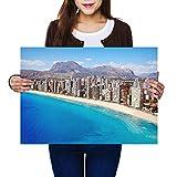 Póster de vinilo de Destino A2 - Alicante Benidorm Coastline España Art Print 59,4 x 42 cm 280 gsm papel fotográfico satinado #15647