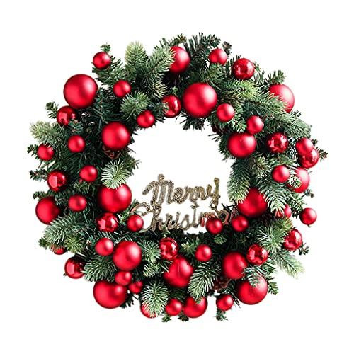 XIN CHANG LWH Guirnalda De Navidad, Jardín De Bayas Rojas Decorar Corona De Navidad Artificial para La Chimenea De La Puerta Y Afuera Y Escaleras 45 Cm