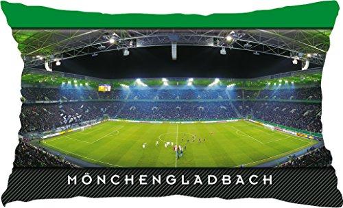 Blue-Letter Mönchengladbach Mitte Stadionpostkarten-Kissen (50 cm x 30 cm)