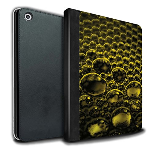 Stuff4 PU Lederen Boek/Cover Case voor Apple iPad 9.7 (2017) tablets/Geel Design/Bubbles/Droplets Collection