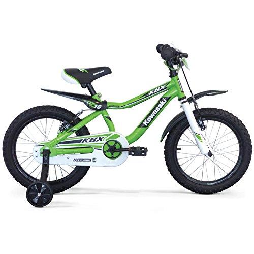 Kawasaki, KBX, Fahrrad für Kinder, Jungen, grün, 12''