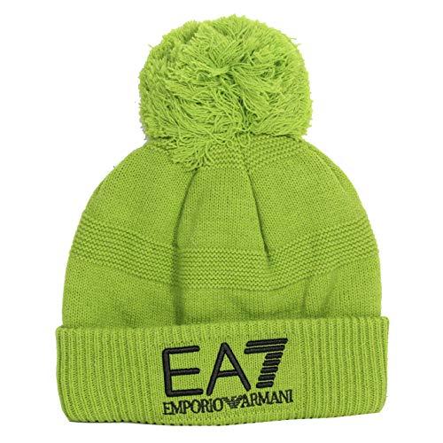 Mütze, Motiv: Urban Beanie, Zitronengrün, mit Pumpe, EA7 – Grün – Herren Gr. L, grün