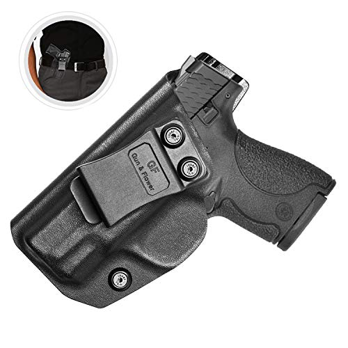 S&W M&P Shield Holster, Kydex IWB for Smith and Wesson M&P Shield 9mm.40 S W Holster Accessories   S&W M&P Shield M2.0 Compact Holster Concealed Carry Inside Waistband - Adj Cant- No Wear, No Jitter