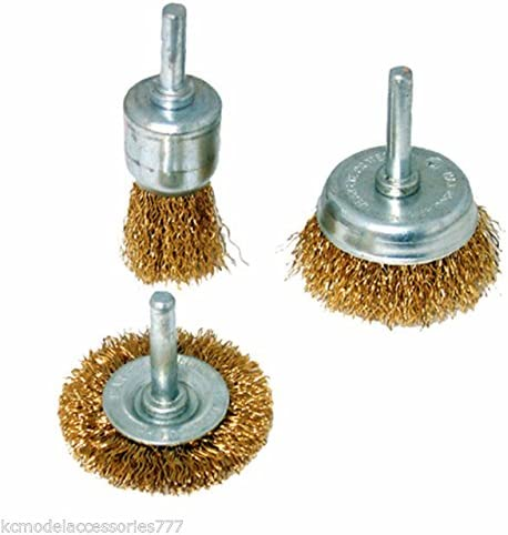 KROST Brass Multipurpose Wire Brush Set to Remove Paint, Dust and Dirt (Golden, Pack of 3)