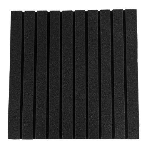 FAMKIT 50 * 50 * 5Cm 6 Piezas de Paneles Acústicos de Espuma de Algodón con Absorción de Sonido (Negro)
