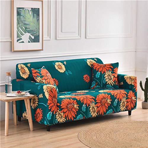 KOLIU Funda de sofá elástica geométrica para Sala de Estar, Fundas de sofá universales, sofá elástico Sofá de Dos plazas Chaise Longue, Funda de sillón-Color 19_3 Asientos 190-230cm