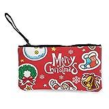 Set de Navidad CollectionCanvas monedero de efectivo, bolsa de cosméticos con cremallera, bolsa de teléfono móvil con asa