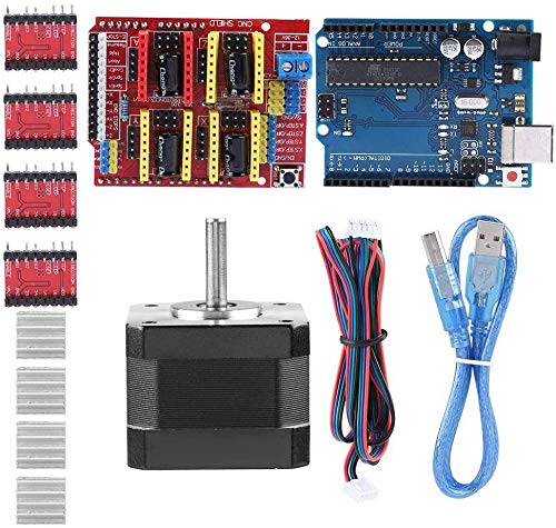 Electrical Equipment 3D Printer CNC Kit with CNC Shield V3.0+A4988 Driver for UNO for R3 Board Nema 17 Stepper Motor+USB Cable for Arduino GRBL