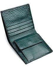 [Jinbado] 財布 メンズ 二つ折り 薄い 左利き用 ミニマリスト 軽い コンパクト 本革 財布 お札入れ 小銭入れあり