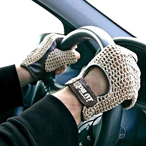 Gants pour automobilistes en cuir d'agneau rétro vintage – En cuir marron XL