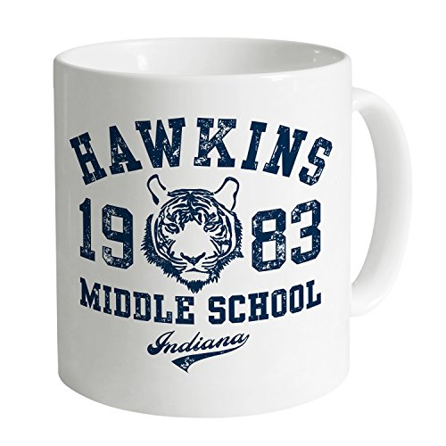 Shotdeadinthehead Inspired By Stranger Things - Hawkins Middle School Tazza