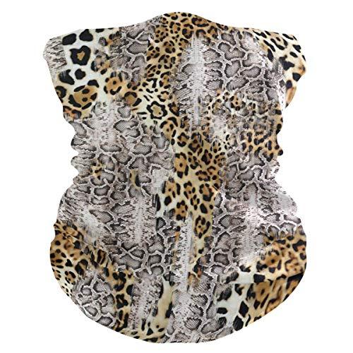 Animal Leopard Snake Print Gesicht Sonne Winddichte Halsmanschette Multifunktionaler Zauberschal Nahtlose Bandana-Stirnbänder für Outdoor-Festivals Sport