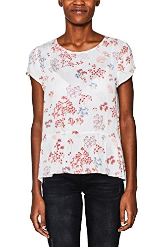 ESPRIT Damen 018EE1F010 Bluse, Mehrfarbig (Off White 110), 40