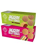 Early Foods - Assorted Pack of 2 - Multigrain Millet & Ragi Amaranth Jaggery Cookies X 2 | Healthy Biscuits
