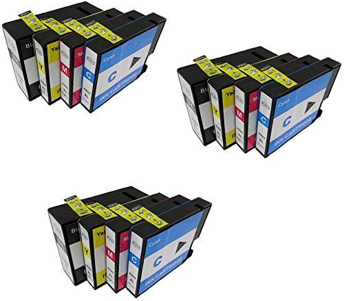 12 XL Druckerpatronen für Canon MAXIFY iB4050, MB5050, MB5350 | kompatibel zu Canon PGI-2500XL