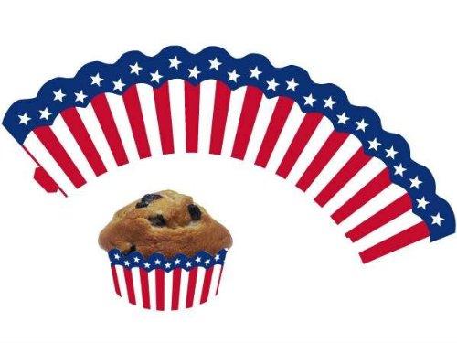 12 USA / Amerika - Cupcake Deko Banderolen von DH-Konzept // Muffinförmchen Muffin Förmchen Kindergeburtstag Geburtstag US Party Kuchen