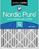 carbon activated air filter 20x20 - Nordic Pure 20x25x4 (3-5/8 Actual Depth) MERV 14 Plus Carbon AC Furnace Air Filters, Box of 2