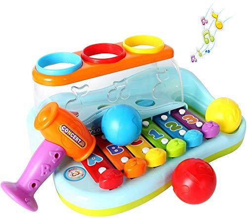 GoStock Giocattoli Musicali Xilofono Luminoso per Bambini di 1 2 o 3 Anni Strumento Musicale Suonare la Tastiera per Bambini Regalo per Ragazzi e Ragazze