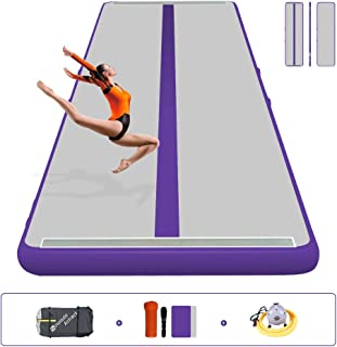 Sinolodo Gym Mats Tumbling Track - for Cheerleading, Gymnastics Training, Beach, on Water, Home use Length 118 Inches