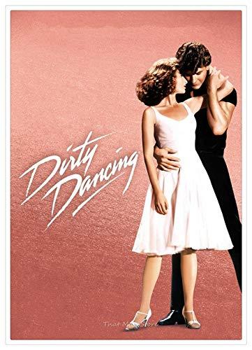 Dirty Dancing Movie Poster Moderne Home Room Bar Dekorative Malerei Weiß Karton Poster Wandaufkleber 42X30 Cm Schwarz