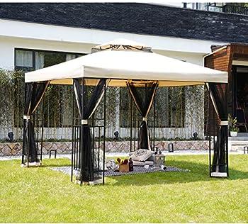 Grand Patio 10x10 Feet Outdoor Gazebo with Netting