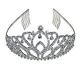 Tiaras de corona de princesa con diamantes para el pelo