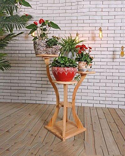 ZENGAI Plateau de fleurs en bois massif européen Plateau de fleurs en style chinois Plateau de bois minimaliste en bois Bonsai Flower Racks (Couleur : A)