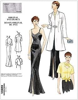 Vogue Patterns V2859 Misses' Jacket, Blouse and Dress, Size A (6-8-10)