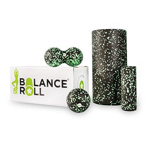 Balance Roll - Komplett Set - (Große Rolle, Kleine Rolle, Ball 8 cm & Duoball 8 cm) - Faszientraining Set