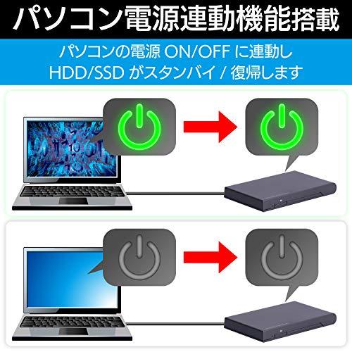 『ロジテック HDD SSDケース 2.5インチ USB3.2 Gen1 ブラック LGB-PBSU3』の5枚目の画像
