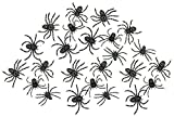 Kicko Stretchy Spider 2 Inches - Pack of 24 - Black with Assorted Colors Dots - for Kids - Party Favors, Bag Stuffers, Fun, Prank, Halloween, Toy, Prize, Pinata Fillers