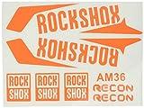 Ecoshirt FO-UZ7V-4MAH Pegatinas Horquilla Fork Rockshox Recon 2016 Am36 Stickers Aufkleber Decals Adesivi Bike BTT MTB Cycle, Naranja 29'