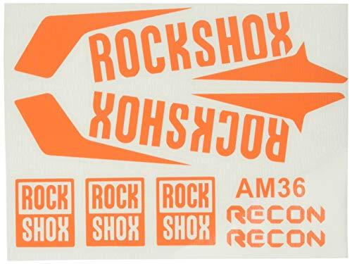 Ecoshirt FO-UZ7V-4MAH Aufkleber Gabel Fork Rockshox Recon 2016 Am36 Stickers Aufkleber Decals Adesivi Bike BTT MTB Cycle, Orange 29 Zoll