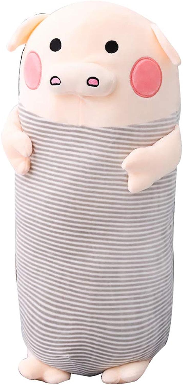 LXYKZ Oreillers Oreiller Long Coussin lit Lombaire Se Penchant Mignon Cochon Oreiller Bureau canapé Oreiller Sommeil Grand Dossier (Taille de Couleur en Option) (Couleur   B, Taille   70cm High)