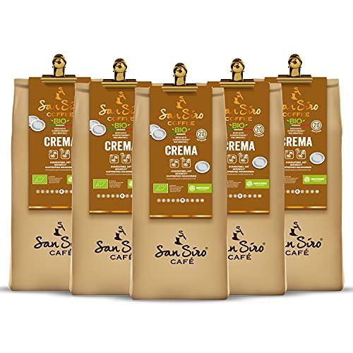 SanSiro BIO Kaffee Pads CREMA, 100% Industriell kompostierbar, Umweltfreundlich, für Senseo und Kaffeepad-Maschinen, 100 Pads