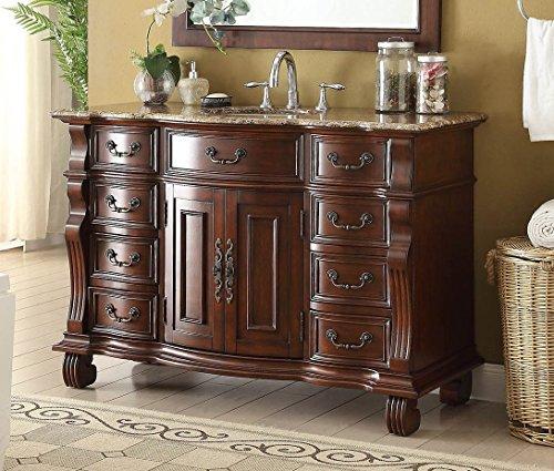 50' Finest Workmanship and Details Large Single Basin Hopkinton Bathroom Sink Vanity GD-4437BN-50