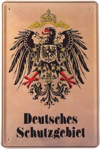 Blechschild Deutsches Schutzgebiet Adler 20 x 30 cm Reklame Retro Blechschild Blech 197