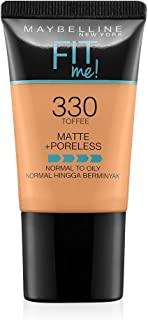 Maybelline New York New York New York Fit Me Matte Plus Poreless Foundation Cream, 18 ml - 330 Toffee