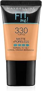 Maybelline New York New York New York Fit Me Matte Plus Poreless Foundation Cream, 18 ml - 330 Toffee