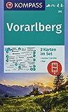 KOMPASS Wanderkarte Vorarlberg: 2 Wanderkarten 1:50000 im Set inklusive Karte zur offline Verwendung in der KOMPASS-App. Fahrradfahren. Skitouren. Langlaufen. (KOMPASS-Wanderkarten, Band 292) - KOMPASS-Karten GmbH