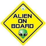 DRIVING iwantthatsign.com Alien On Board Car Sign, Alien Car Sign, Baby On Board Car Sign, Alien On Board Car Sign, Ufo Sign, Ufo Car Sign, Joke Car Sign, Baby On Board Style, Bumper Sticker