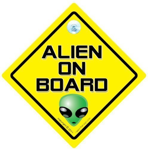 Alien A Bordo Señal De Coche, extranjero coche señal, señal de coche,...